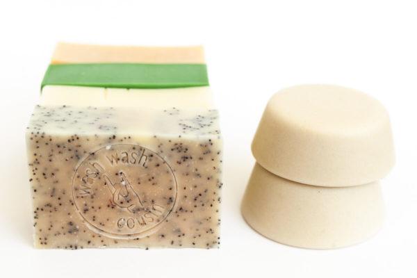 Pack cosmétiques solides zero déchet Savon et shampoing solide cheveux gras