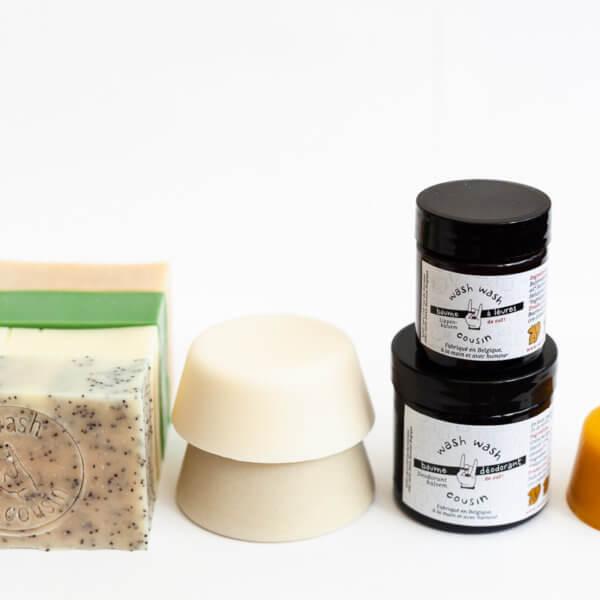 Pack cosmétiques solides zero déchet Savon et shampoing solide zéro déchet